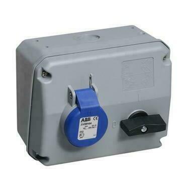 ABB 2CMA167669R1000 Průmyslové vidlice a z. Zásuvka s blokovaným vypínačem, horizontální, 3p., 32 A,