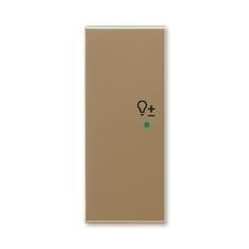 """ABB 6220E-A02104 25 free@home Kryt 2násobný levý, symbol """"stmívání"""""""