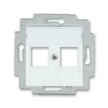 ABB 5014H-A01018 03 Levit Kryt zásuvky komunikační přímé (2x), s kovovým upevňovacím třmenem