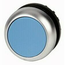 EATON 216600 M22-D-B Ovládací hlavice tlačítka, zapuštěné tlačítko, bez aretace, kroužek titan, modr