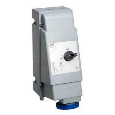 ABB 2CMA162828R1000 Průmyslové vidlice a z. Zásuvka s blokovaným vypínačem, do těžkých provozů, 3p.,