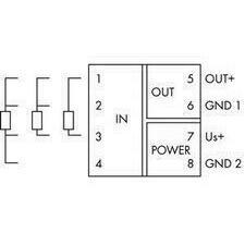 WAGO 857-800 Měřicí transformátor teploty pro senzory RTD