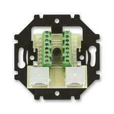 ABB 5013U-A00152 Přístroje Přístroj zásuvky ISDN, průchozí, dvojnásobný