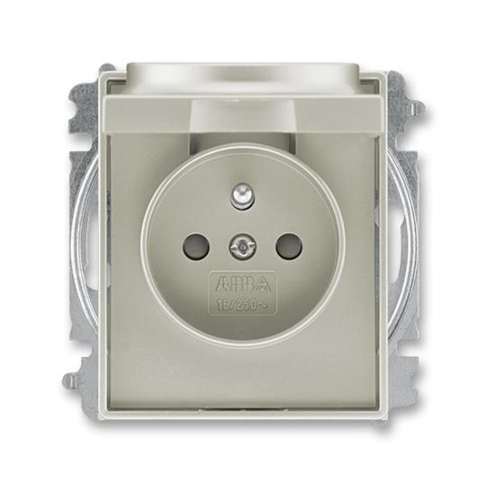 ABB 5519E-A02397 32 Time Zásuvka jednonásobná, chráněná, s clonkami a víčkem, s bezšroub. sv.