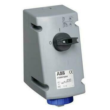 ABB 2CMA167824R1000 Průmyslové vidlice a z. Zásuvka s blokovaným vypínačem, 3p., 16 A, IP67, 6 h