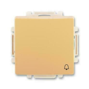 ABB 3557G-A80343 D1 Swing Ovládač tlačítkový zapínací, s krytem, se symbolem zvonku, řaz. 1/0