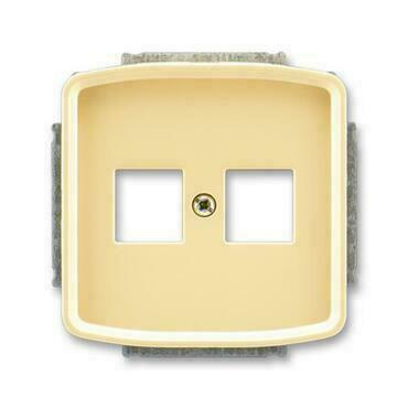 ABB 5014A-A02018 D Tango Kryt zásuvky komunikační přímé (2x), s kovovým upevňovacím třmenem