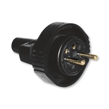 ABB 1.214.77 Vidlice dvojpólová s ochranným kontaktem, s přímým vývodem, IP65 Pohyblivé přívody