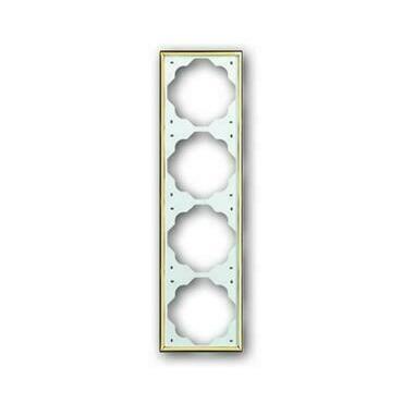 ABB 2CKA001754A3641 Impuls Rámeček čtyřnásobný, pro vodorovnou i svislou montáž