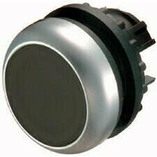 EATON 216590 M22-D-S Ovládací hlavice tlačítka, zapuštěné tlačítko, bez aretace, kroužek titan, čern