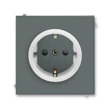ABB 5518M-A03459 61 Jiné systémy zásuvek Zásuvka jednonásobná s ochrannými kontakty (podle DIN), s c