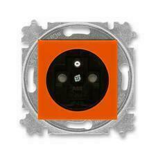 ABB 5519H-A02357 66 Levit Zásuvka jednonásobná s ochranným kolíkem, s clonkami