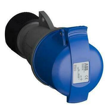 ABB 2CMA102031R1000 Průmyslové vidlice a z. Zásuvka spojovací 32A - 3p., IP44, 6 h