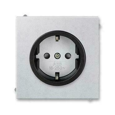 ABB 5518M-A03459 72 Jiné systémy zásuvek Zásuvka jednonásobná s ochrannými kontakty (podle DIN), s c