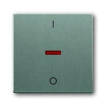 ABB 2CKA001751A3017 Solo Kryt spínače jednoduchý, s potiskem I/0, s červeným průzorem