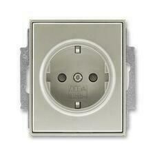 ABB 5518E-A03459 32 Jiné systémy zásuvek Zásuvka jednonásobná s ochr. kontakty (podle DIN), s clonka