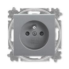ABB 5519H-A02557 69 Levit Zásuvka jednonásobná 55x55, s ochranným kolíkem, s clonkami