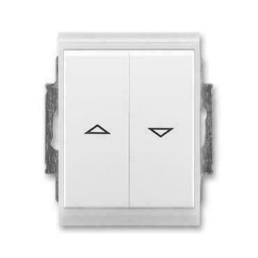 ABB 3558E-A88943 01 IPxx Ovládač žaluziový jednopólový (1/0+1/0 s blokováním), IP44