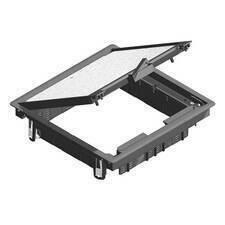 HLS HL KDVKK3.5-7011 Víko podlahové krabice, přístrojové max.12m, pro NEO box, IP 30, čtvercové 267x