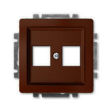 ABB 5014G-A02018 H1 Kryt zásuvky komunikační přímé (2x), s kovovým upevňovacím třmenem Swing