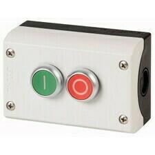 EATON 216529 M22-I2-M1 Skříňka se dvěma tlačítky O/I, 2Z+2V, povrchová montáž