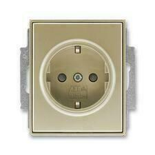 ABB 5518E-A03459 33 Jiné systémy zásuvek Zásuvka jednonásobná s ochr. kontakty (podle DIN), s clonka