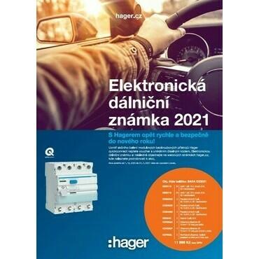HAGER SADA  DZ2021 DÁLNIČNÍ ZNÁMKA 2021