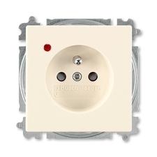 ABB 5599B-A0235782 Future Zásuvka jednonásobná s ochr. kolíkem, s ochranou před přepětím