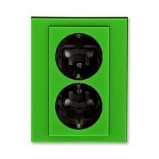 ABB 5522H-C03457 67 Jiné systémy zásuvek Zásuvka dvojnásobná s ochrannými kontakty (podle DIN), s cl