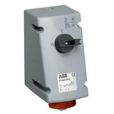ABB 2CMA167832R1000 Průmyslové vidlice a z. Zásuvka s blokovaným vypínačem, 4p., 16 A, IP67, 6 h
