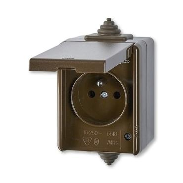 ABB 5518-2969 H Zásuvka jednonásobná, pro průběžnou montáž, IP44 IPxx