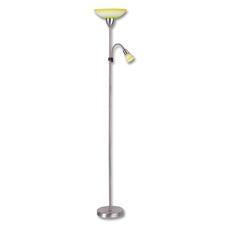 ECOPLANET Lampa stojací E27/100WsE14/40W zel+žlutá chrom