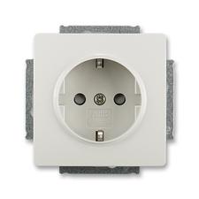 ABB 5518G-A03459 S1 Jiné systémy zásuvek Zásuvka jednonásobná s ochr. kontakty (podle DIN), s clonka