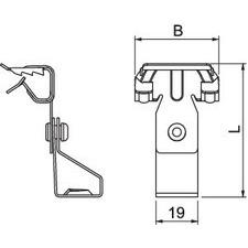 BCTR 4-8 M8 Nosníková svorka