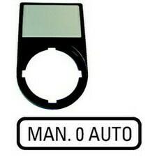 EATON 216501 M22S-ST-GB12 Nosiče štítků-komplety, 30x50mm, oblé, černé MAN. 0 AUTO