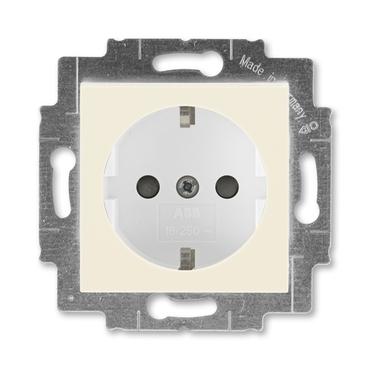 ABB 5520H-A03457 17 Jiné systémy zásuvek Zásuvka jednonásobná s ochrannými kontakty (podle DIN), s c