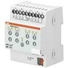 ABB 2CDG110121R0011 KNX Řadový žaluziový akční člen 4násobný, 230 V AC, manuální ovládání