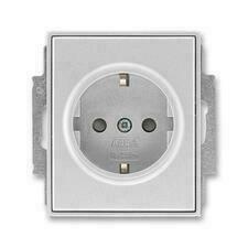 ABB 5518E-A03459 08 Jiné systémy zásuvek Zásuvka jednonásobná s ochr. kontakty (podle DIN), s clonka