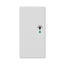 ABB 6220H-A02101 16 free@home Kryt 2násobný levý, symbol osvětlení