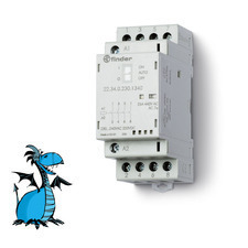 FINDER stykač 22.34.0.230.1340, 4Z/25A, 230V AC/DC, AgNi