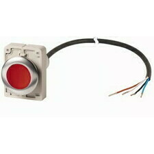 EATON 185969 C30C-FDR-R-K01-P65 Kompaktní zapuštěné tlačítko s kabelem 3.5m a volným koncem, s areta