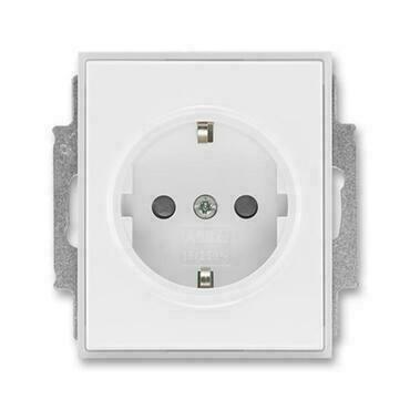 ABB 5518E-A03459 01 Jiné systémy zásuvek Zásuvka jednonásobná s ochr. kontakty (podle DIN), s clonka