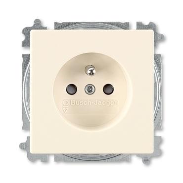 ABB 5519B-A0235782 Zásuvka jednonásobná s ochr. kolíkem a clonkami, bezšroub. svorky Future