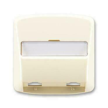 ABB 5013A-A00215 C Tango Kryt zásuvky telefonní, dvojnásobné (pro přístroj 5013U)