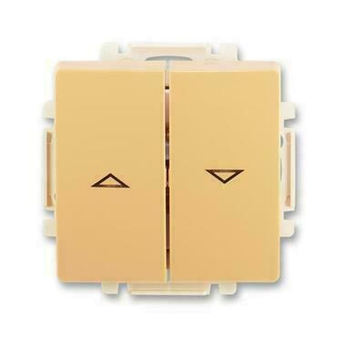 ABB 3557G-A88340 D1 Swing Ovládač žaluziový jednopólový (1/0+1/0 s blokováním), s krytem