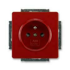 ABB 5518G-A02359 R1 Swing Zásuvka jednonásobná s ochranným kolíkem, s clonkami