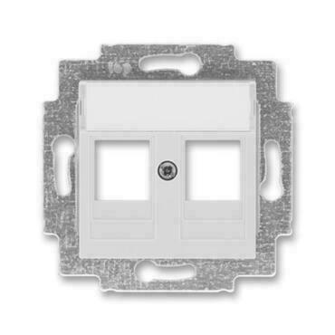 ABB 5014H-A01018 16 Levit Kryt zásuvky komunikační přímé (2x), s kovovým upevňovacím třmenem