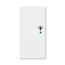 ABB 6220H-A02101 03 free@home Kryt 2násobný levý, symbol osvětlení