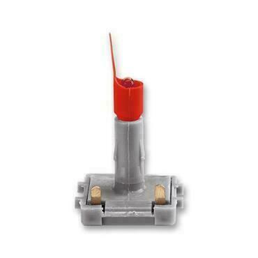 ABB 3916-05444 Přístroje LED orientační 0,5 mA, bílé světlo (červený límec, modrá tečka)