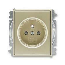 ABB 5519E-A02357 33 Time Zásuvka jednonásobná, chráněná, s clonkami, bezšroubové svorky
